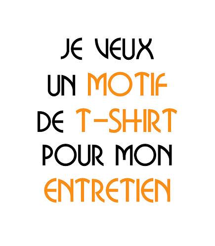 Création d'un motif T-Shirt