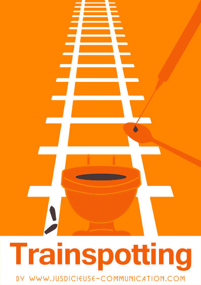 Trainspotting affiche minimaliste