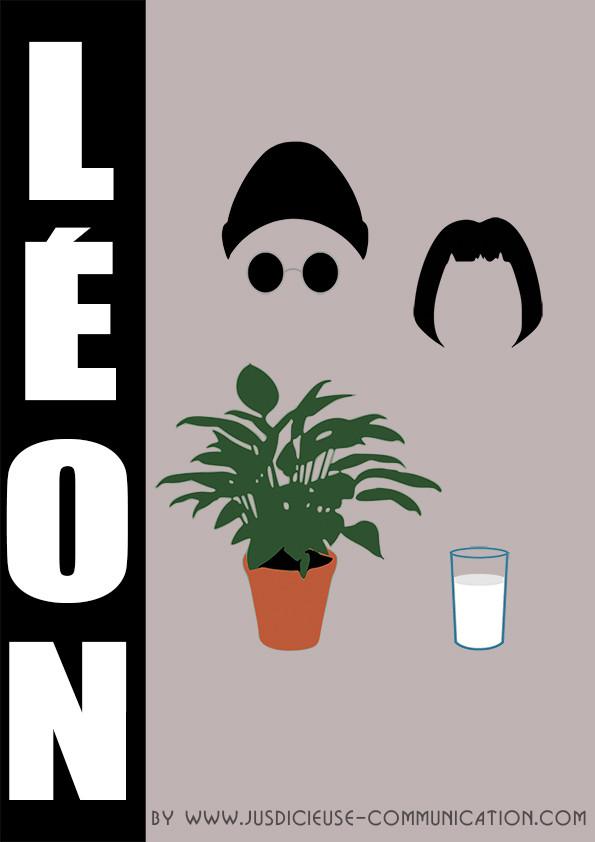 Léon, affiche minimaliste, graphiste Angers