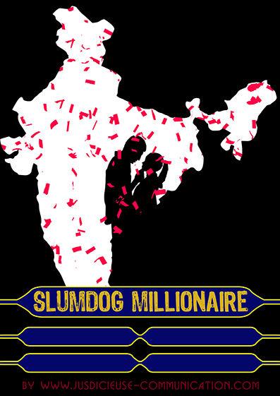 Slumdog Millionaire affiche minimaliste