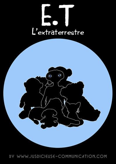E.T affiche minimaliste