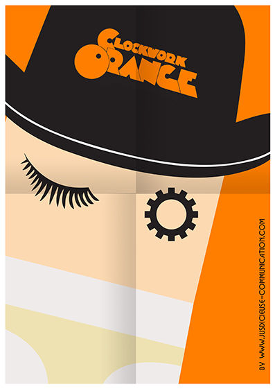 Clockwork Orange Stanley Kubrick Affiche flat design by Jus d'icieuse Communication