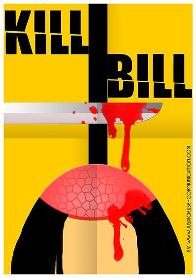 Kill Bill Affiche Minimaliste Flat Design par une graphiste d'Angers