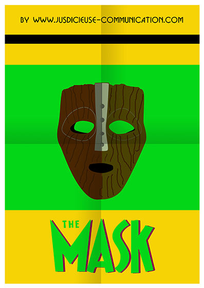 The Mask Affiche Minimaliste Flat Design par une graphiste d'Angers
