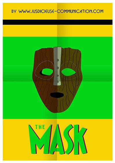 The Mask Affiche flat design