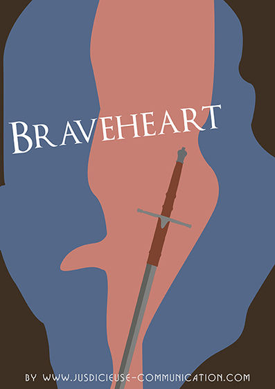 Braveheart affiche minimaliste