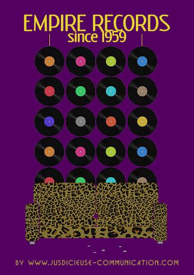 Empire records affiche minimaliste