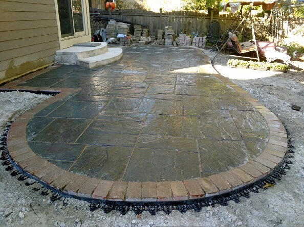 Bluestone Patio Installation