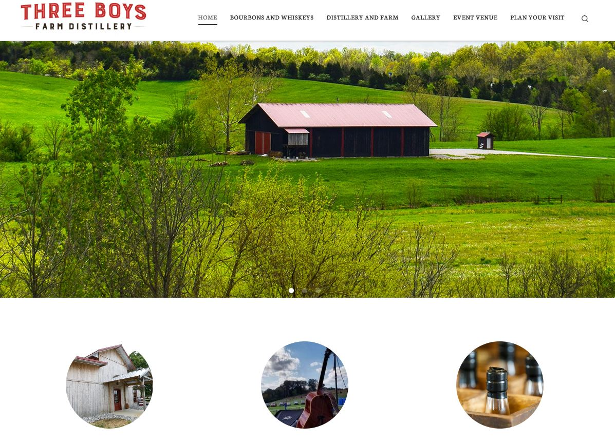 Website Three Boys Distillery