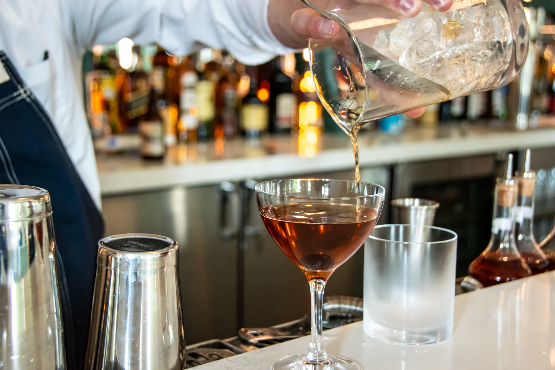 Photo of cocktail mixing