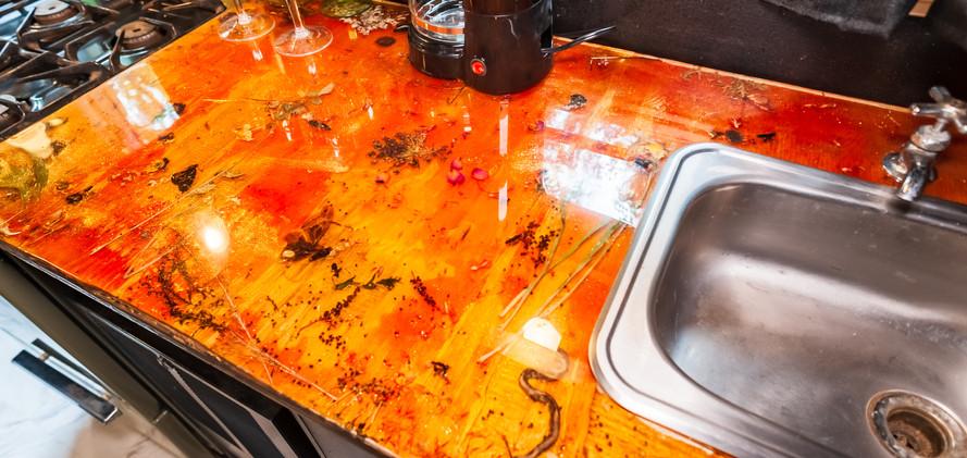 Resin countertop by Goodhart Bad Art