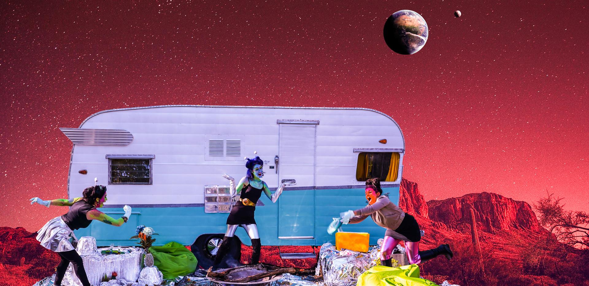 Alien babes take The Mothership to Mars