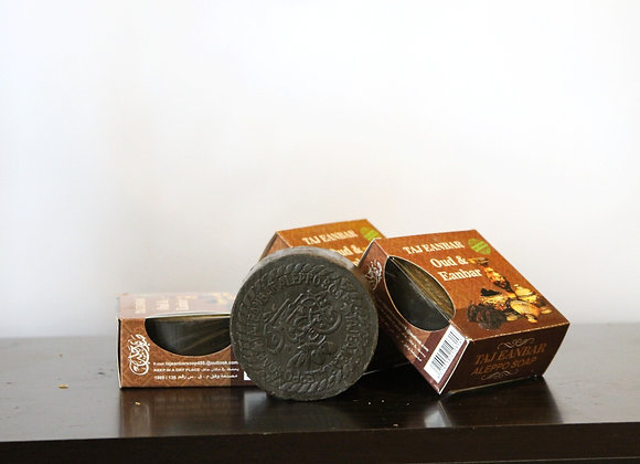 Olive Soap with Oud and Eanbar (4 pieces)