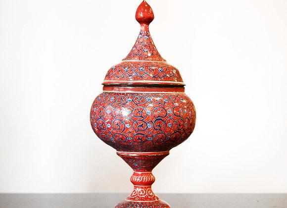 Iranian Brass Tall Bowl