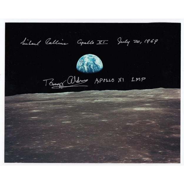 Aldrin & Collins Signed Apollo 11 Earthrise