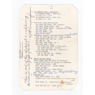 Cunningham's Flown Apollo 7 Checklist Pa