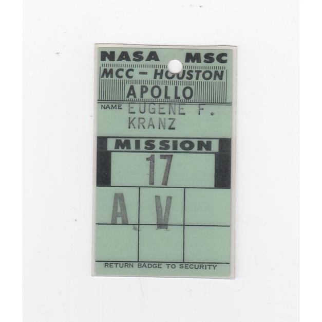 Kranz's Apollo 17 MCC Access Badge