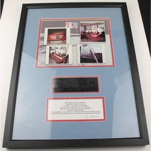 Framed Display of Apollo 11 Surface Flag Strands
