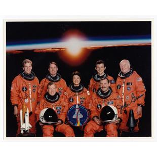 STS-95 Crew-Signed NASA Glossy Photo, Glenn
