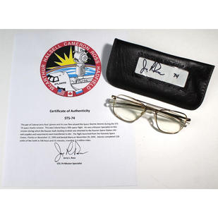 Ross' Flown STS-74 Glasses With Case
