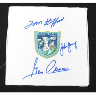 Apollo 10 Crew-Signed Beta Cloth Patch