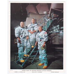 Apollo 8 Crew-Signed NASA Litho