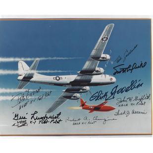 Bell X-1 Artwork Multi-Signed Photo