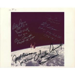 All 9 Skylab Astronauts Signed Glossy Photo