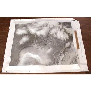 Apollo 17 Taurus Littrow High-Relief Lunar Map