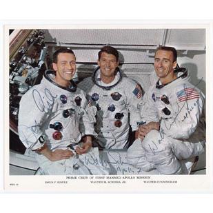 Apollo 7 Crew-Signed NASA Litho