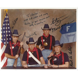 STS-6 F-Troop Crew-Signed Glossy Photo