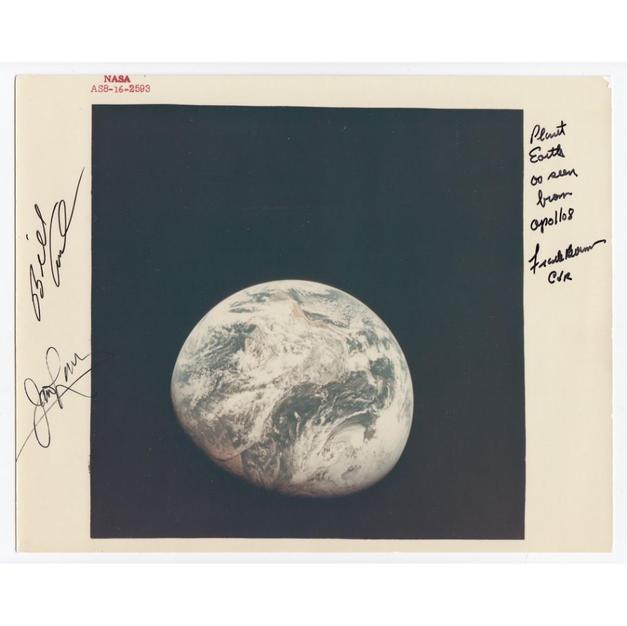 Apollo 8 Crew-Signed NASA Glossy Photo