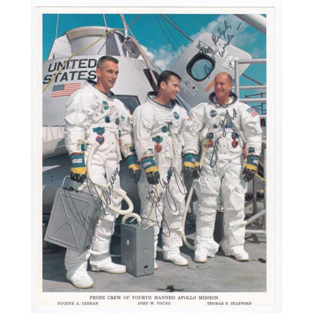 Apollo 10 Crew-Signed NASA Litho