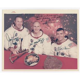 Wendt's Apollo 13 Crew-Signed Glossy Photo