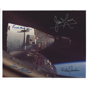 Gemini 7/6 Rendezvous Crew-Signed Photo