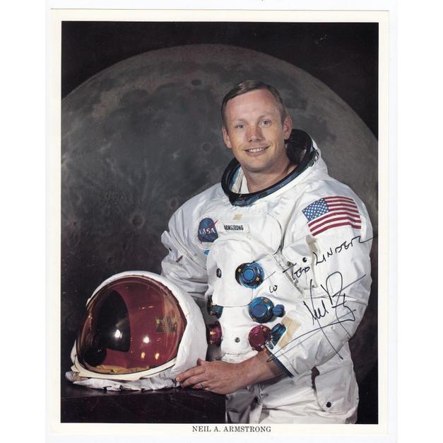Neil Armstrong Signed NASA Litho