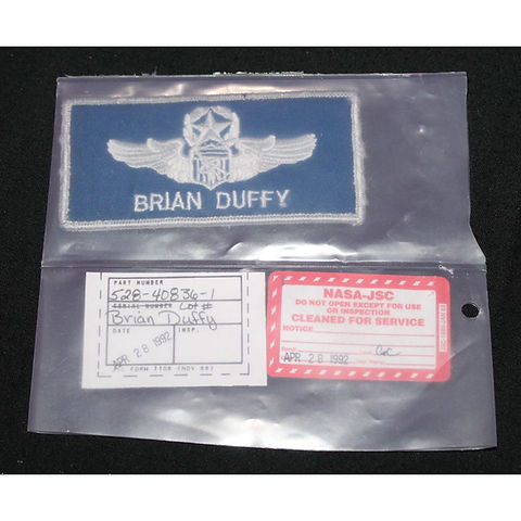 STS-45 Flown Launch & Entry Suit Name Ta