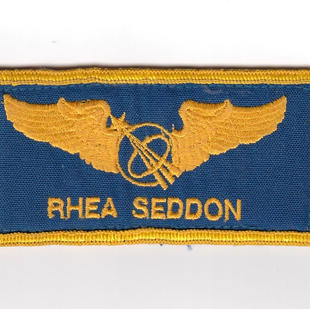 Rhea Seddon's 1991 Flight Suit Name Tag