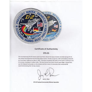 Ross' Flown STS-55 Mission Patch