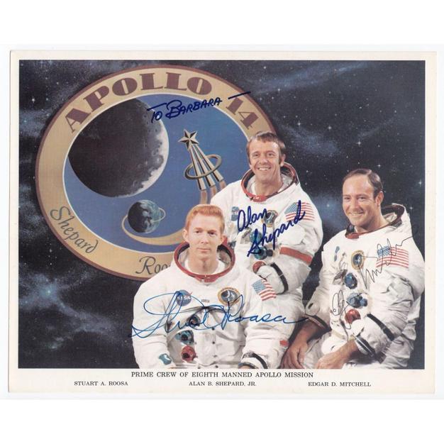 Apollo 14 Crew-Signed NASA Litho
