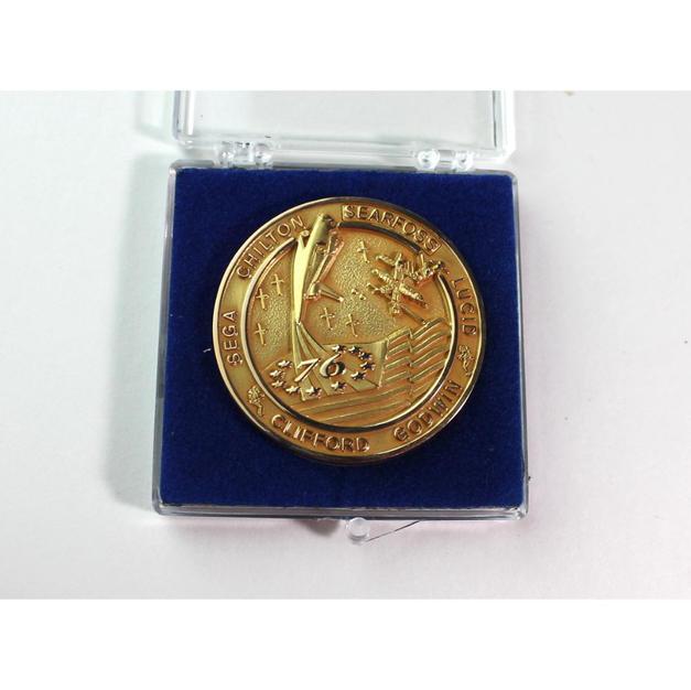 STS-76 Flown Gold Robbins Medallion