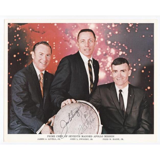 Apollo 13 Crew-Signed NASA Litho