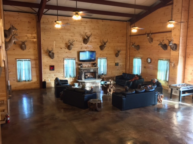 Trophy room at buck Country