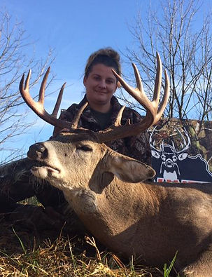 Lady bow hunter at Buck Country Outfitters