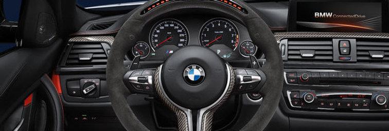 BMW M PERFORMANCE ALCANTARA STEERING WHEEL WITH CARBON FIBRE TRIM AND RACE DISPL