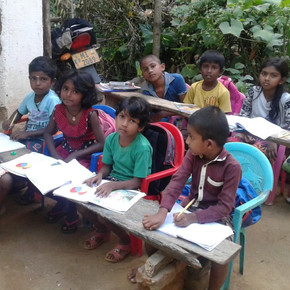 Nachhilfeunterricht für tamilische Kinder