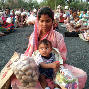 Lebensmittelhilfe in Indien
