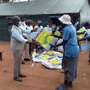 Hilfe für Flüchtende in Mosambik
