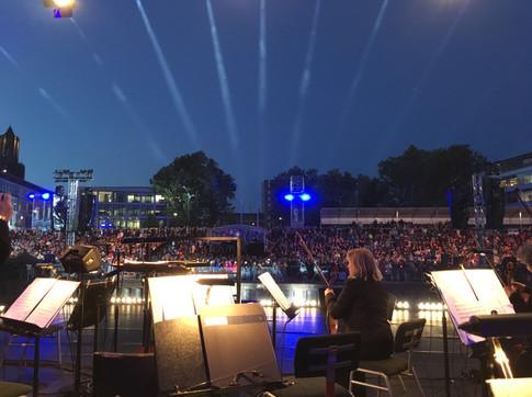 Marte's uitzicht vanuit orkest