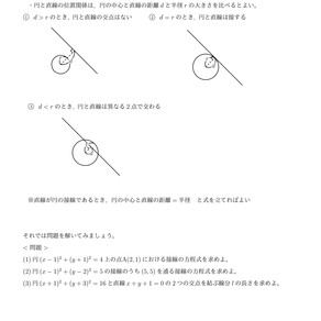 (数ⅡB)円の接線は点と直線の距離を用いよう!